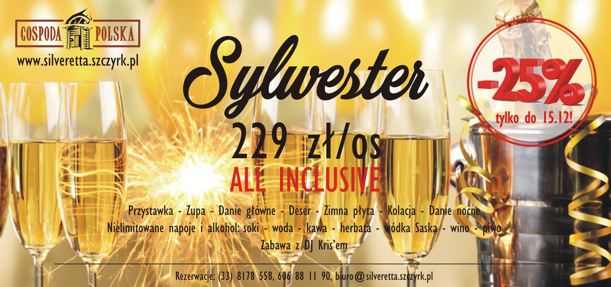 sylwester 2018 w górach - gospoda polska SUPER CENA